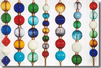 Colored Glass Lightning Rod Balls